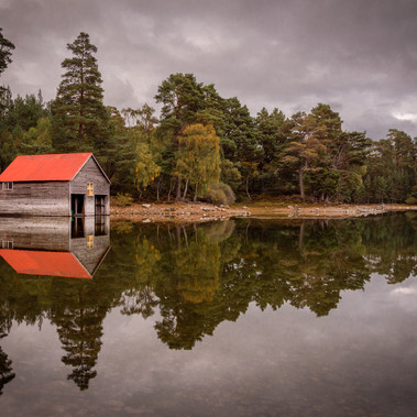 Loch Vaa Boathouse by Angela Hill