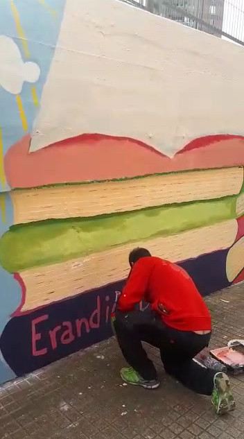 Parte 1. Mural en Ignacio Aldekoa. Astrabudua. Erandio Begira 2019-2020