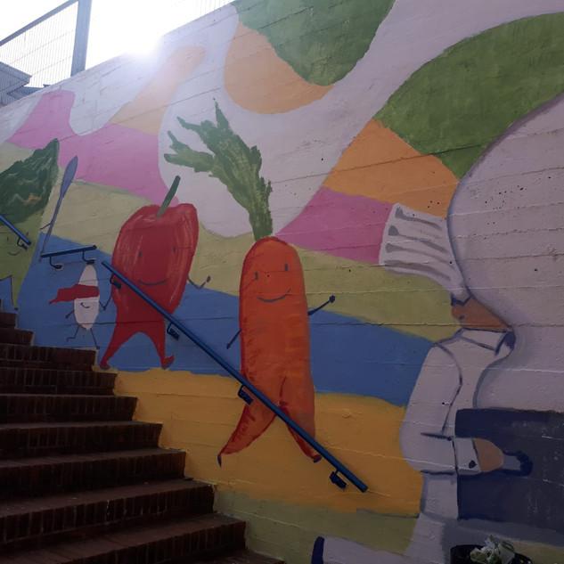 Parte 3. Mural en Ignacio Aldekoa. Astrabudua. Erandio Begira 2019-2020