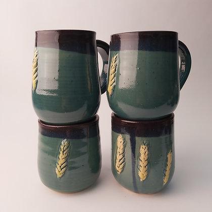 Darker Wheat Mugs