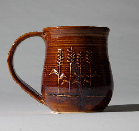 Slip Trailed Wheat Mug