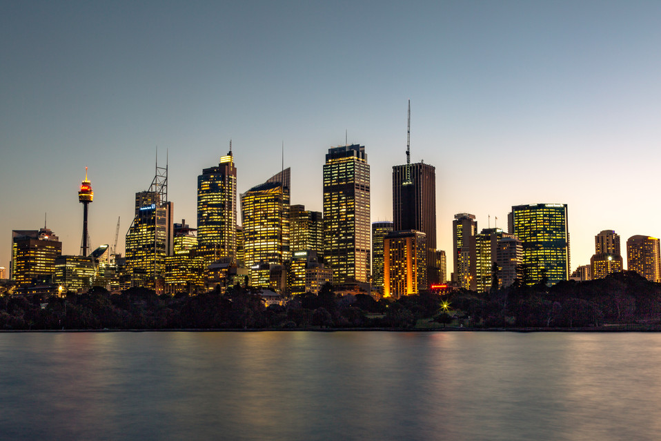 Sydney under lights