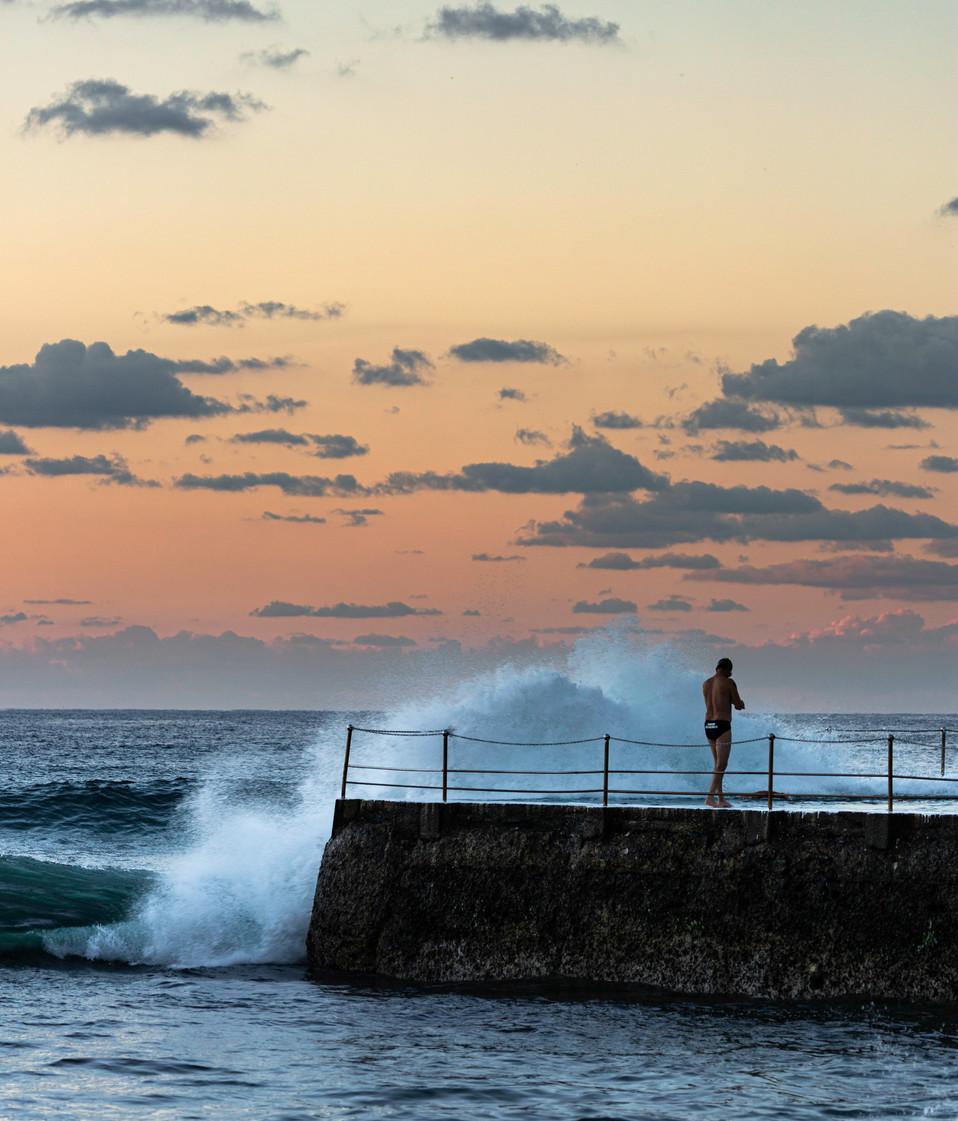 Bondi Baths at sunrise