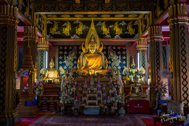 Inside small temple Chiang Mai