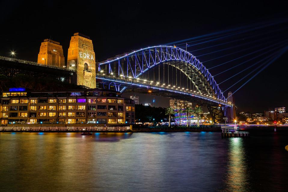 The bridge during vivid