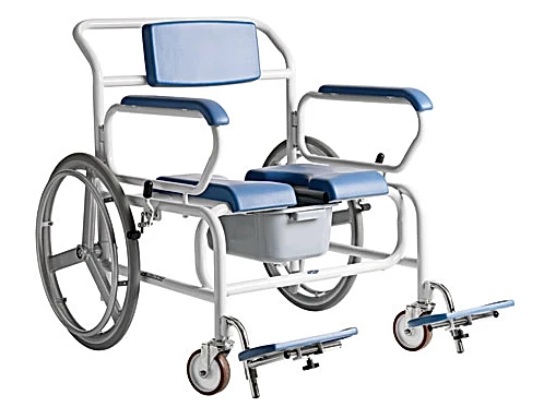 XXL-Rehab Self Propelled Shower Commode
