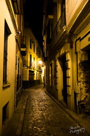 Narrow lanes in Seville