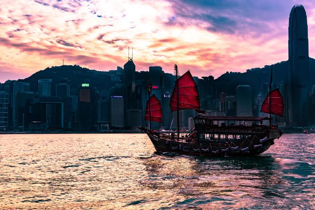 Victoria harbor junk