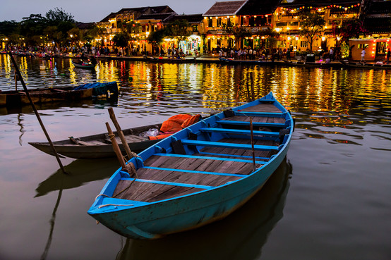 Hoi An river at twighlight