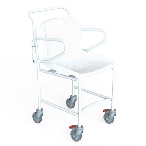 Mobile Shower Chair with Plastic Seat