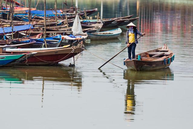 Boatlady reflection