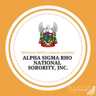 Alpha Sigma Rho Joins NAPA
