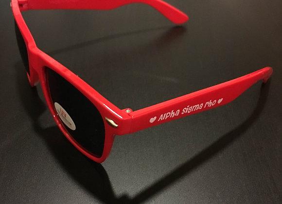 ASR Red Wayfarer Sunglasses