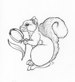 Squirrel with Tulip