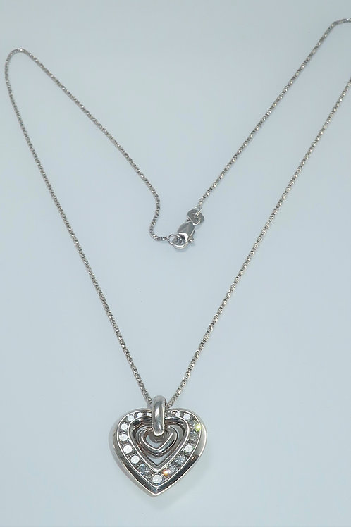 Heart Shape Diamond Pendent