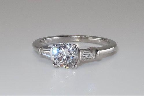 Tapered Brilliant Baguette Diamond Engagement Ring