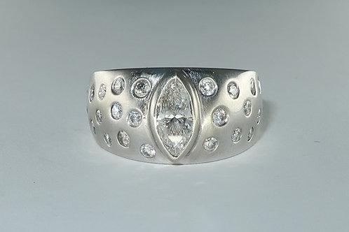 Marquise Bezel Set Diamond Engagement/Anniversary Ring