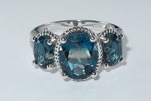 Contemporary Style London Blue Topaz Ring