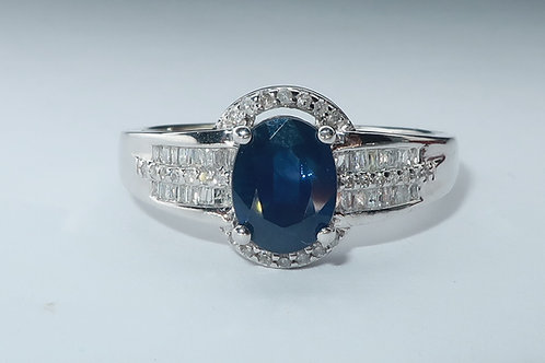 Art- Deco Style Sapphire And Diamond Ring.