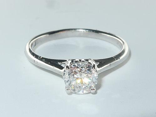 0.70ct Solitaire Diamond Platinum Ring