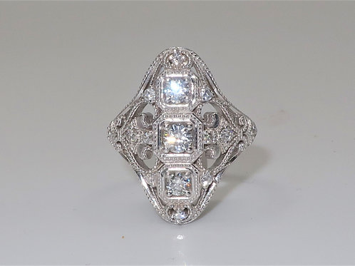 Victorian Style Diamond Rings 0.85cttw