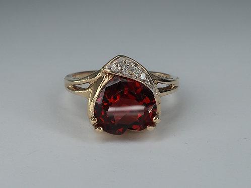 Garnet and Diamond Ring