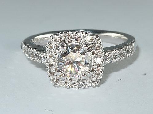 Ladies Halo Design Diamond Engagement Ring 1.00cttw