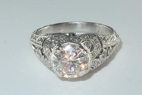 Art-Deco Style Diamond Engagement Ring