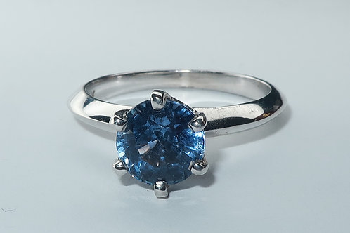 Ladies Solitaire Sapphire Ring