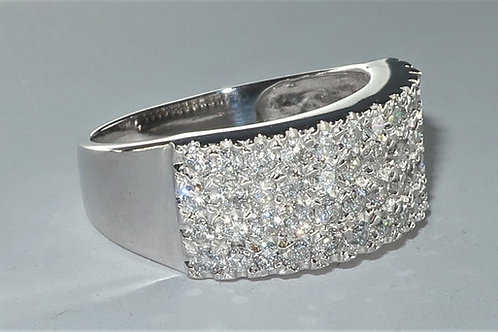 4 Row Pave Diamond Anniversary Band in 14k white gold 1/2cttw