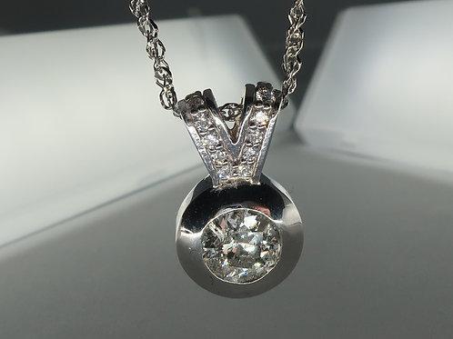 Bezel set Diamond Pendent