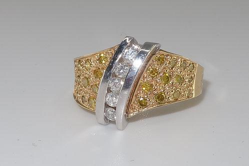 Art Nouveau Diamond Ring 0.60cttw