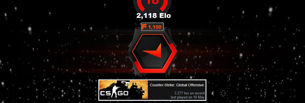 Faceit 2,118 Elo | 1.66 K/D | 1,100 Points | 2,277 Hours | Instant Delivery