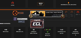 04' Faceit 3,015 Elo | 10 Year Veteran | 1,371 Hours | 17,200 Points | Instant