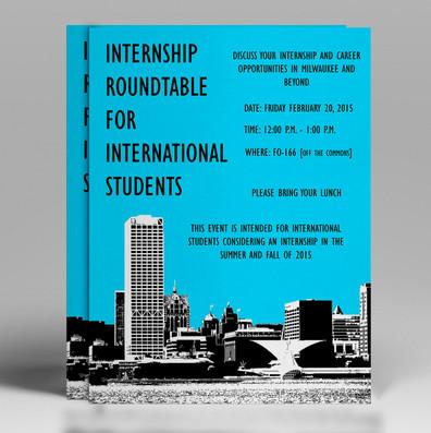 Internship Roundtable Flyer