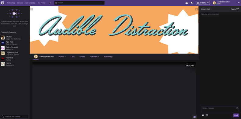 Audible Distraction Twitch Profile