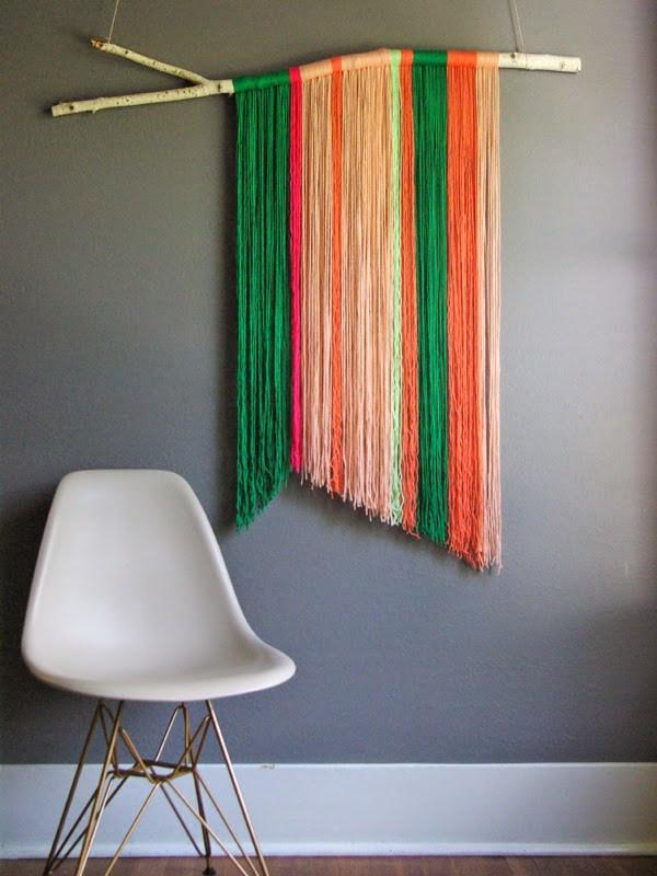 DIY yarn art
