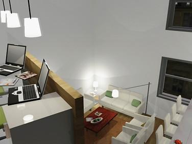 Render - Duplex interior design