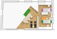 Visual plan - residential interior design project in Valencia