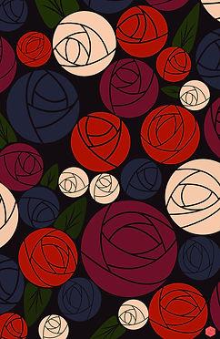 Minimal Roses wallpaper - ASCasanova Designs