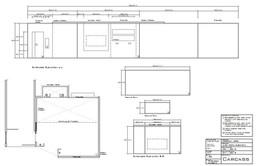 Technical drawing - Elevation for set design