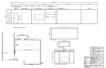 Technical drawing - Elevation for set design