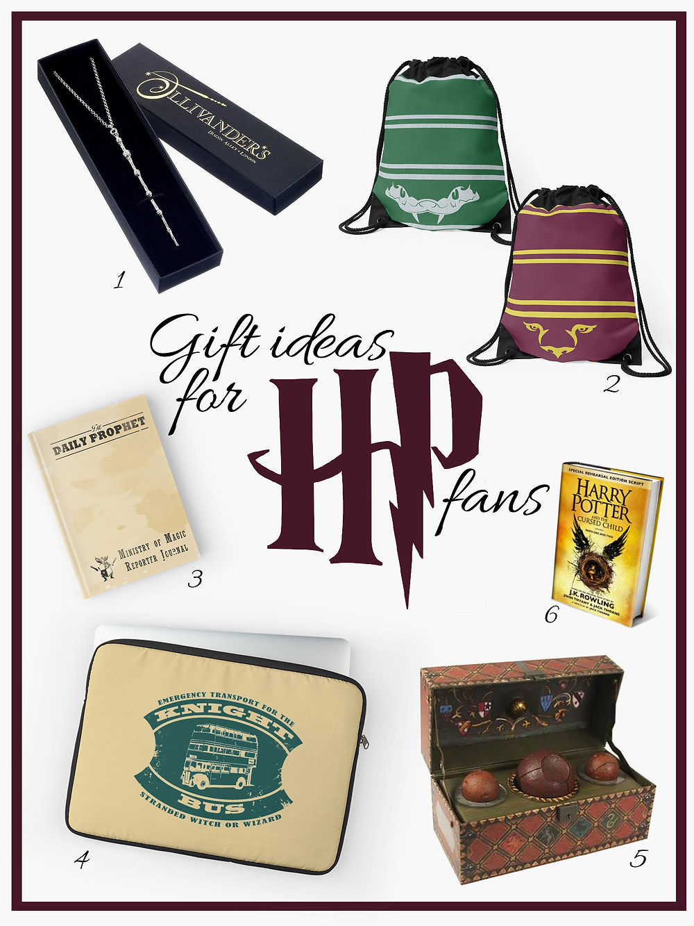 Present ideas for Harry Potter fans - Gathering thoughts