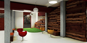 Render - Co-working office - Rest area