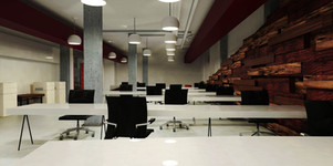 Inteiror design render - Co-working office