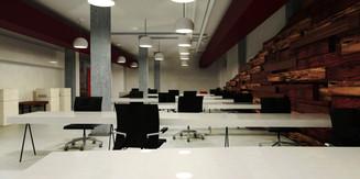 Co-working office - la puerta 6 - Office render