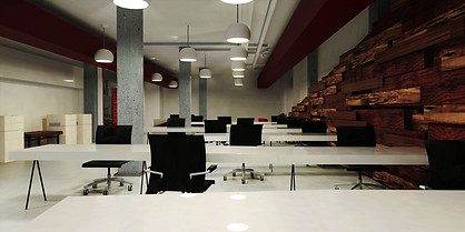 Inteiror design render - Co-working office