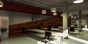 Render - Interior design project - Co-working office
