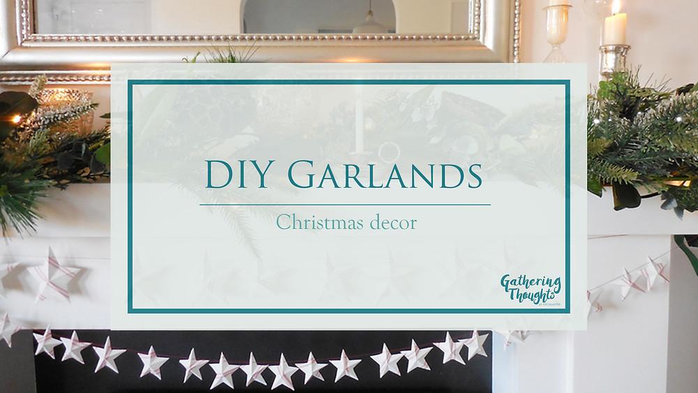 DIY Garlands for Christmas decoration