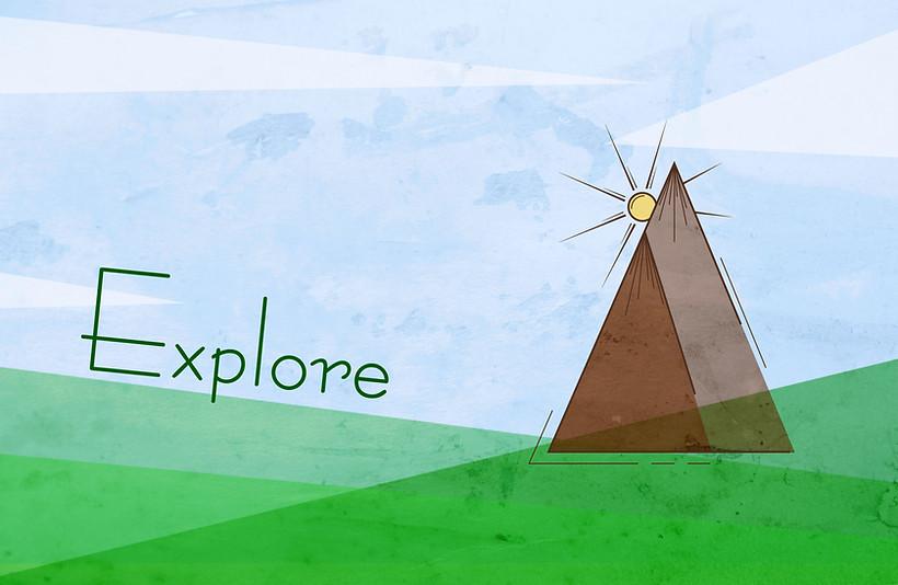 Explore the mountain - minimalist design